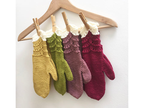 Scallop Mittens by Julia Marsh in Stylecraft Bellissima DK