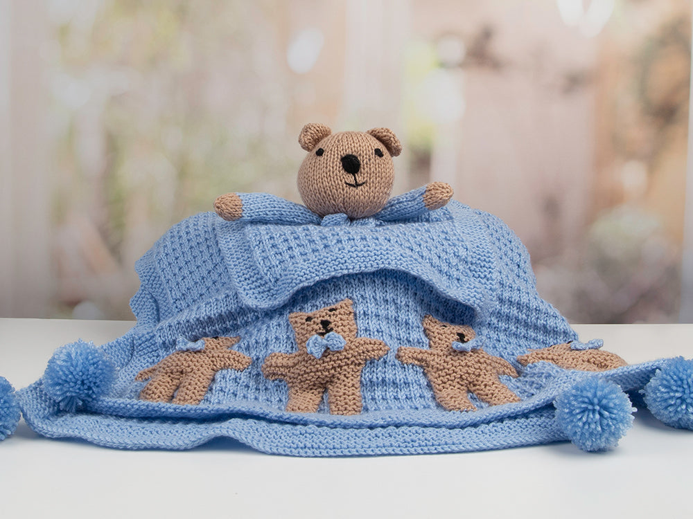 Knit your own Teddies The Crafty Kit Co Knitting Kit Knitting for Beginners