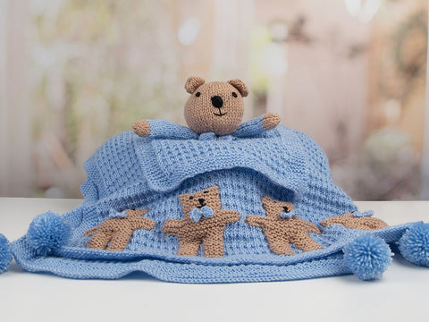 Newborn Baby Boy Set (Teddy) by Nicola Valiji in Deramores Studio Baby Soft DK