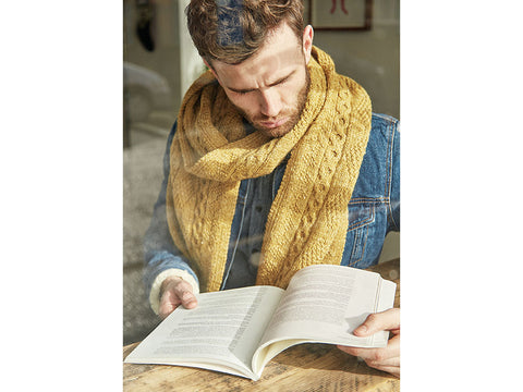 Newman Scarf by Martin Storey in Rowan Hemp Tweed