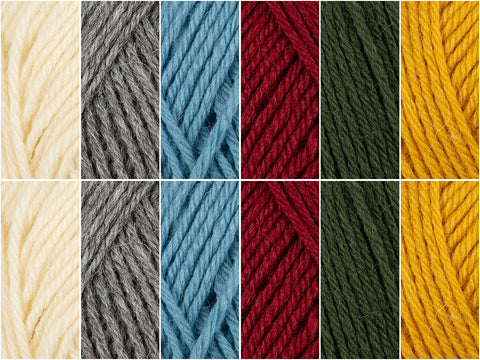 White To Bright Colour Pack in Novita Nordic Wool