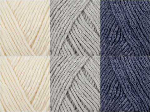 Denim Wash Colour Pack in Novita Wool Cotton