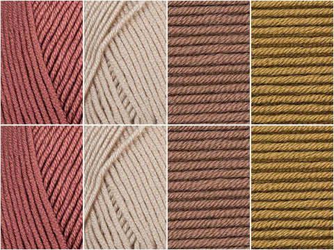 Oat Latte Colour Pack in Rico Design Yarn