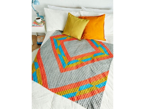 Crochet Now Golden Hour Blanket in Cygnet DK