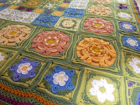 The Secret Garden Blanket by Catherine Bligh in Stylecraft Special DK (Colour Pack)