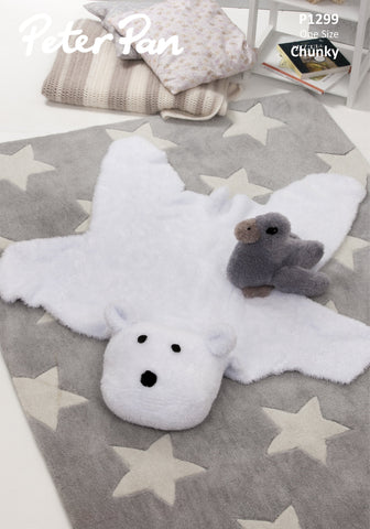 Polar Bear Rug and Duckling in Peter Pan Precious Chunky (1299)- Digital Version