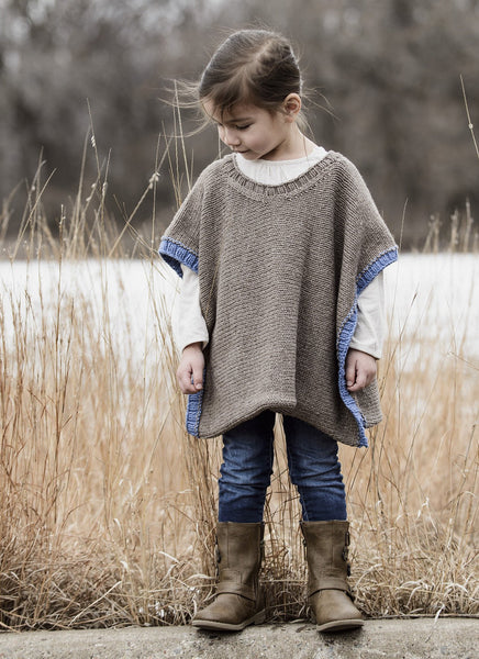 Puddle Jumper Poncho in Spud & Chloe Sweater