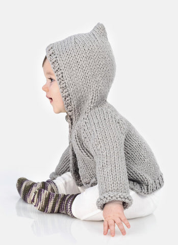 Honey Bear Hoodie & Sweetie Socks in Spud & Chloe Outer-Deramores