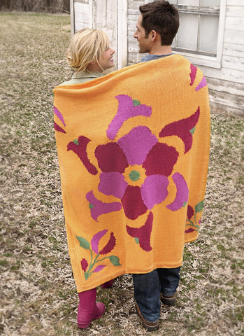 Flower Power Throw in Spud & Chloe Sweater-Deramores
