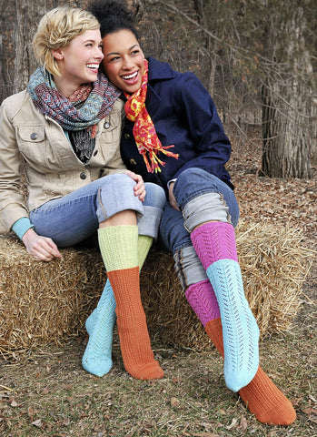 Two For One Socks in Spud & Chloe Fine