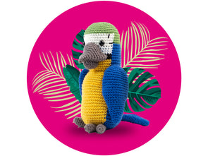 Parrot Crochet Kit and Pattern in Deramores Yarn