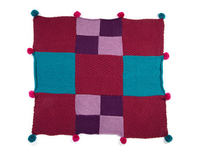Patchwork Blanket by What Katie Knits in Deramores Studio Chunky
