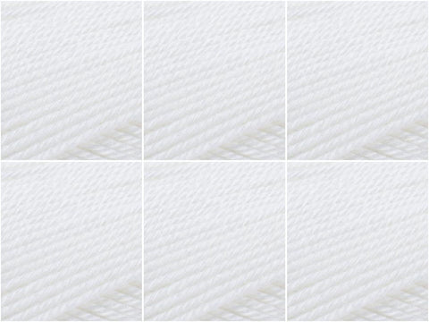Patons 100% Cotton 4Ply Value Pack white