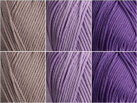 Patons 100% Cotton DK Lila Colour Pack
