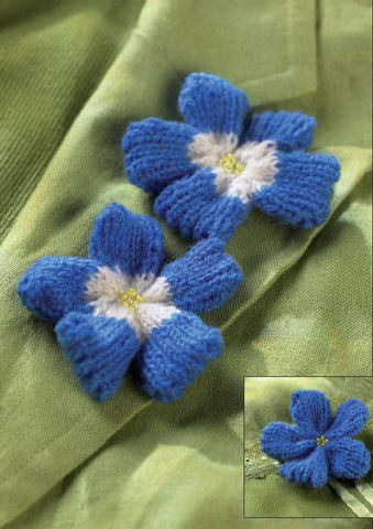 Knitted Perwinkle Flowers - Digital Version