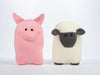 Sheep and Pig Cushions by Amanda Berry in Deramores Studio DK