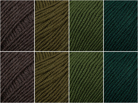 Pine Forest Colour Pack in Katia Merino 100%