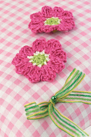 Crocheted Pink Cosmos Flowers - Digital Version