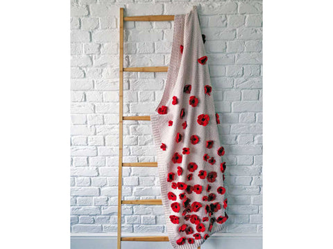 Poppy Blanket Knitting Kit and Pattern in Deramores Yarn