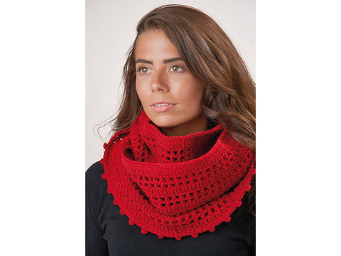 Poppy Cowl in Patons Wool Blend Aran