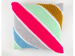 Portree Cushion Crochet Kit and Pattern in Cygnet Yarn