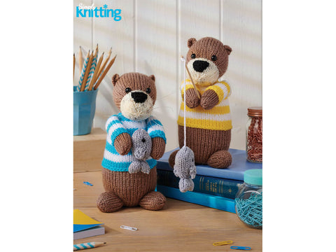 Simply Knitting Otters by Amanda Berry in Hayfield Bonus DK