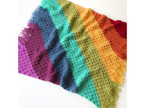 Rainbow Stripes Blanket by Kate Rowell in Stylecraft Special Aran