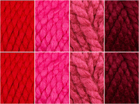 Raspberry Coulis Colour Pack in Hayfield Bonus Super Chunky