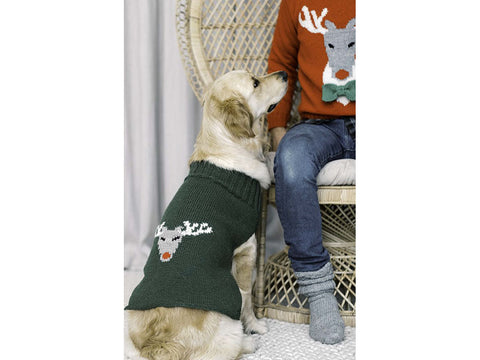 Dog Reindeer Sweater in Novita Nordic Wool