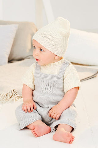 Babies Dungarees and T-Shirt in Stylecraft Bambino (9498)