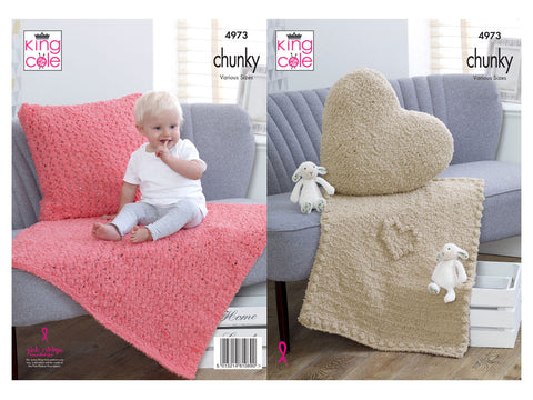 Blankets & Cushions in King Cole Cuddles Chunky (4973)