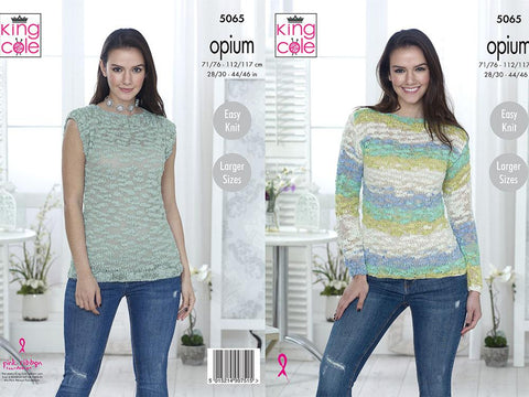 Sweater & Top in King Cole Opium & Opium Palette Chunky (5065)