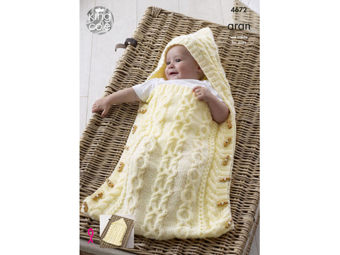 Baby Sleeping Bag in King Cole Comfort Aran - Yarn and Pattern
