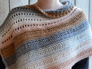 Coffee Shop Wrap by HanJan Crochet in Rico Design Alpaca Blend Chunky