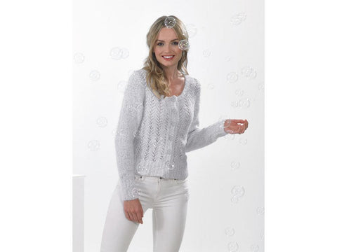 Ladies Cardigan in James C. Brett Bubbalicious DK (JB534)