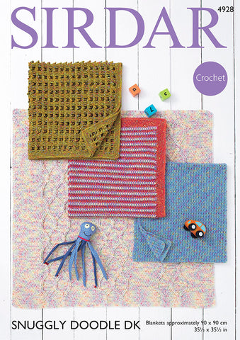 Children's Blankets Crochet Kit and Pattern in Sirdar Yarn (4928S)