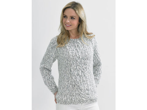 Ladies Sweater in James C. Brett Tranquil Chunky (JB489)