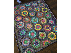 Hexagon Burst Blanket by Cypress Textiles in Scheepjes Colour Crafter Velvet