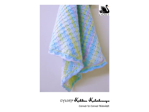 Corner to Corner Blanket Crochet Kit and Pattern in Cygnet Yarn