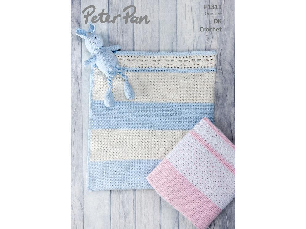 Peter Pan Baby Blanket.Crochet Baby Blanket In Peter Pan Baby Cotton Dk 1311