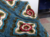 Indian Roses Crochet Blanket by Jane Crowfoot in West Yorkshire Spinners