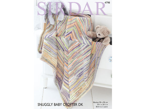 Sirdar Snuggly Baby Crofter DK - Knitted Blanket Kit - Yarn and Pattern