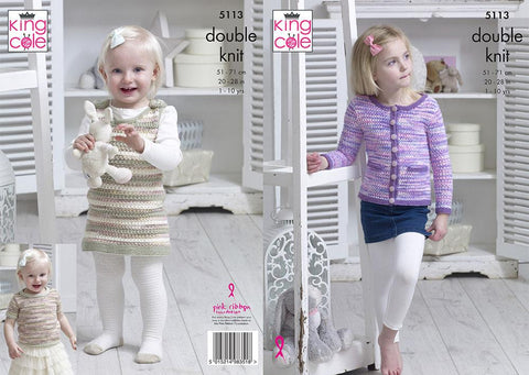 Cardigan, Top & Dress in King Cole Comfort DK (5113)