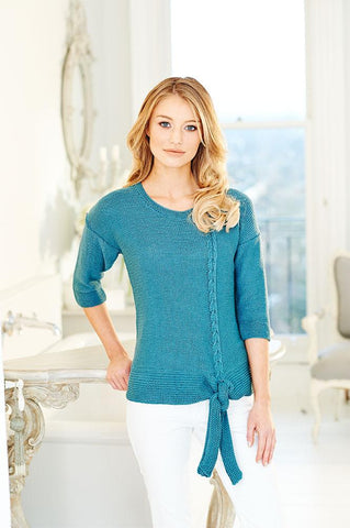 Ladies Sweater & Cardigan in Stylecraft Linen Drape (9509)