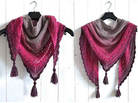 Ana Lucia Shawl Crochet Kit and Pattern in Scheepjes Yarn