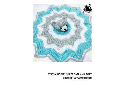 Crocheted Comforter in Cygnet Yarns Kiddies Super Safe & Soft DK