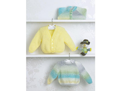Babies Cardigans & Sweater in James C. Brett Baby Marble DK (JB503)