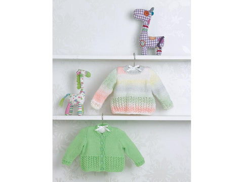 Babies Cardigan & Sweater in James C. Brett Baby Marble DK (JB504)