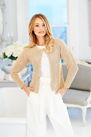 Ladies Top & Cardigan Crochet Kit and  Pattern in Stylecraft Yarn (9513)