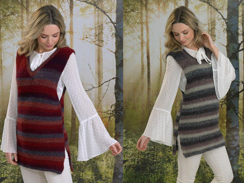 Ladies Tunics in James C. Brett Landscape DK (JB493)